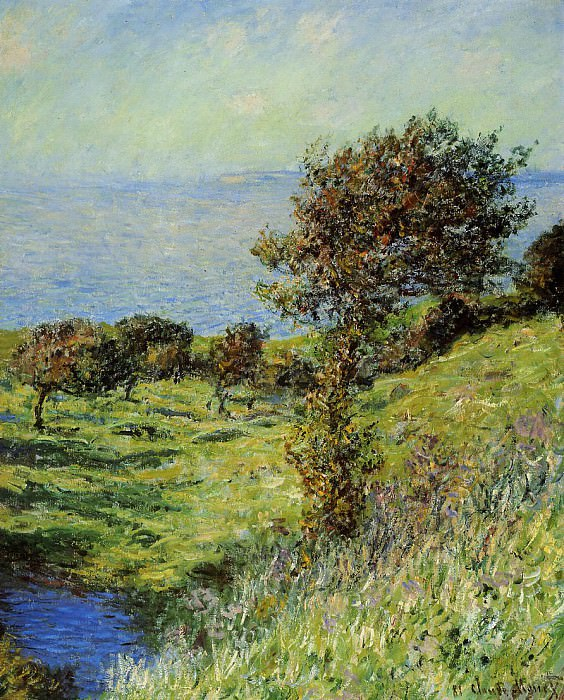Cliffs of Varengeville, Gust of Wind. Claude Oscar Monet