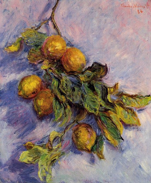 Branch of Lemons. Claude Oscar Monet
