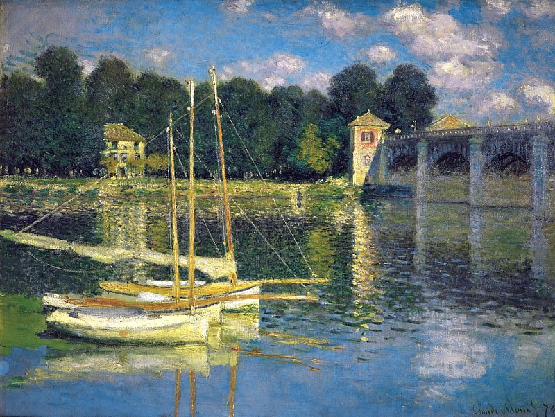 The Bridge at Argenteuil. Claude Oscar Monet
