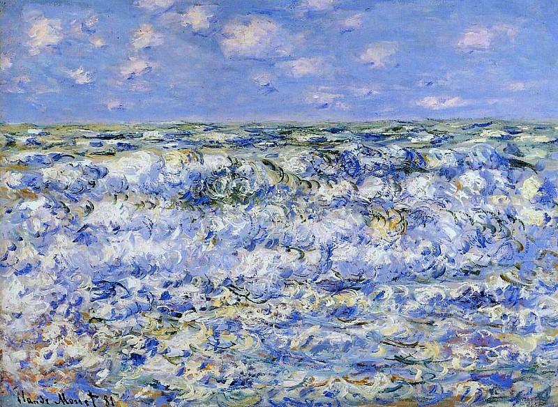 Waves Breaking. Claude Oscar Monet