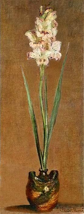 Gladiolus, 1881 01. Клод Оскар Моне