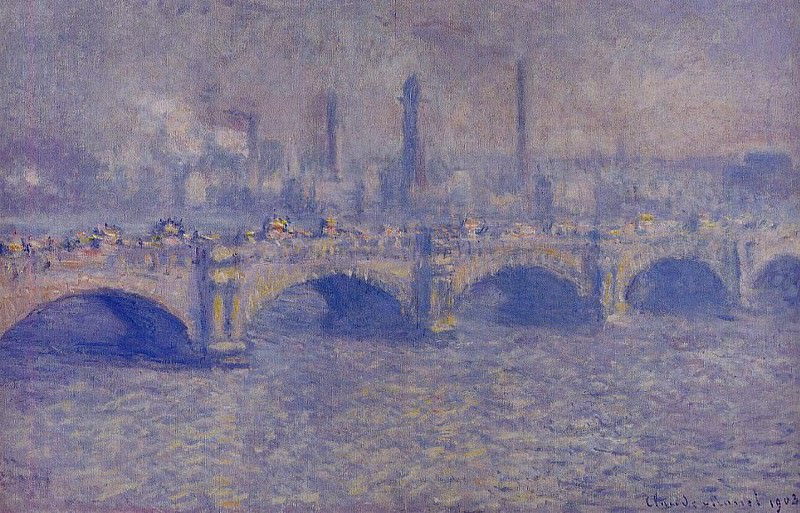 Waterloo Bridge, Sunlight Effect 5. Claude Oscar Monet