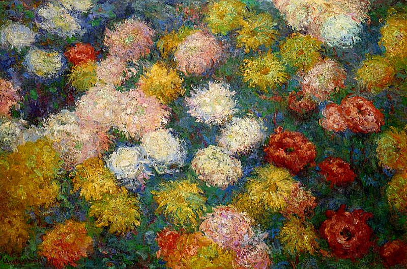 Chrysanthemums 2. Claude Oscar Monet