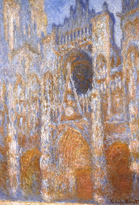Rouen Cathedral, The Portal at Midday. Claude Oscar Monet
