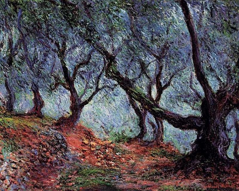 Grove of Olive Trees in Bordighera. Claude Oscar Monet