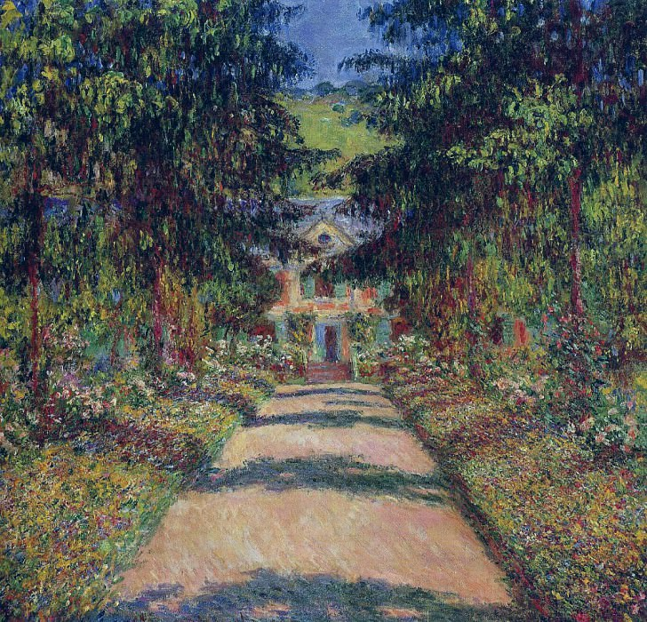 Pathway in Monet's Garden at Giverny. Claude Oscar Monet