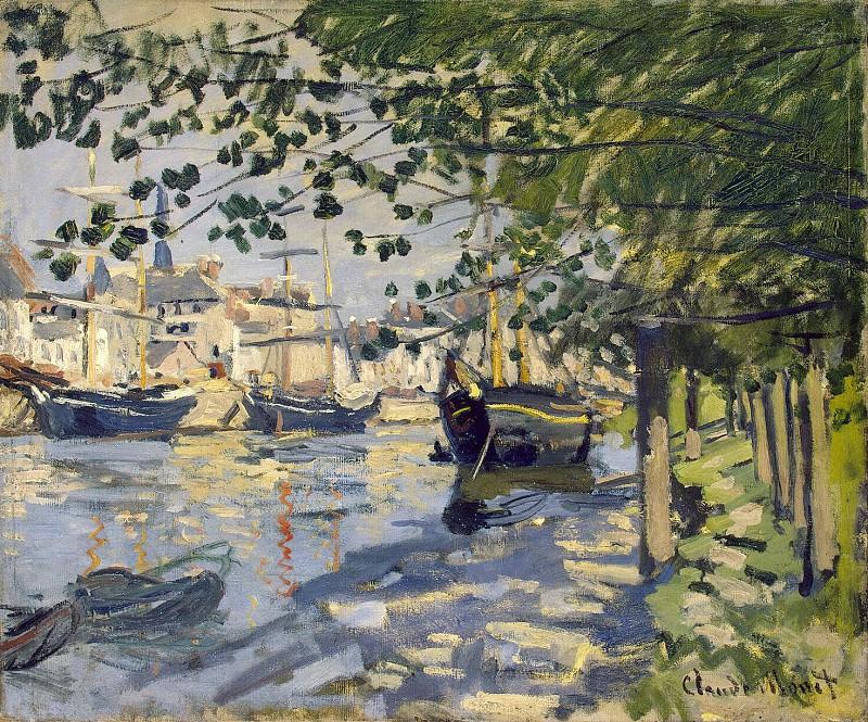 The Seine at Rouen (La Seine a Rouen). Claude Oscar Monet