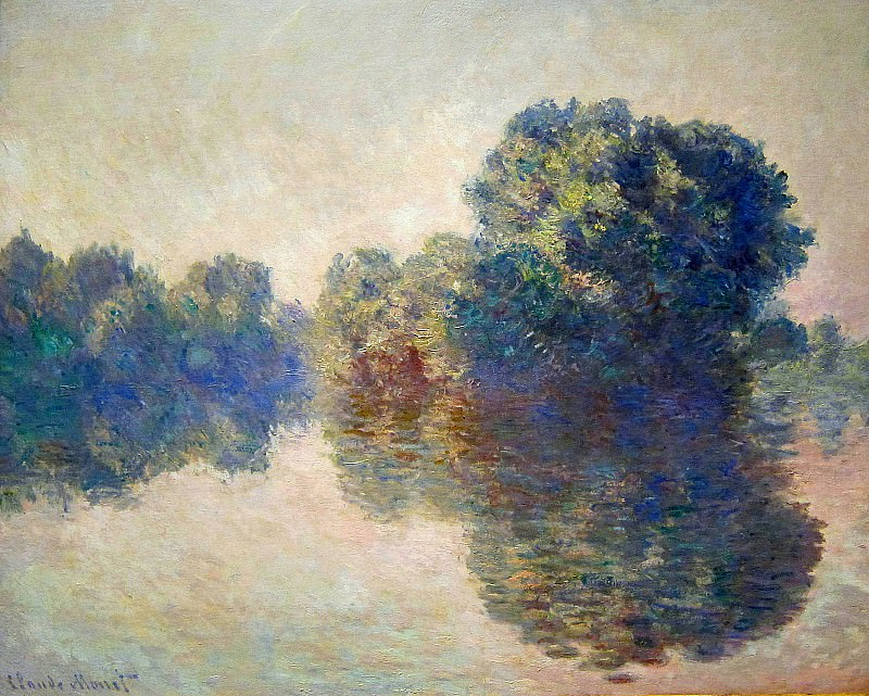 The Seine near Giverny. Клод Оскар Моне