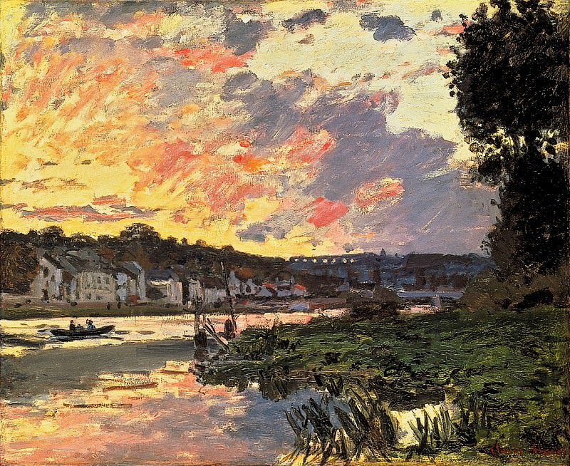 The Seine at Bougival in the Evening. Claude Oscar Monet