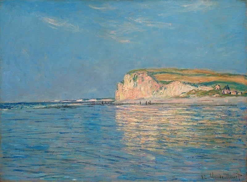 Low Tide at Pourville 02. Claude Oscar Monet