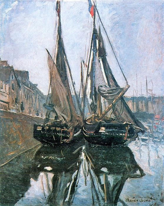 Fishing Boats at Honfleur. Клод Оскар Моне