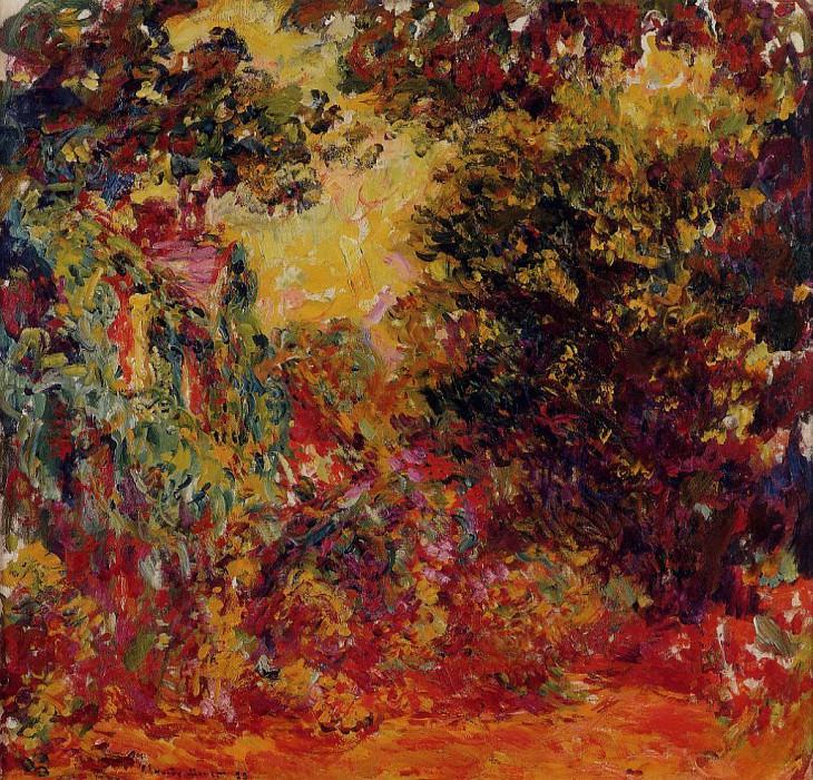 The Artist's House Seen from the Rose Garden. Claude Oscar Monet