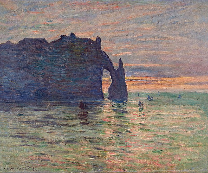 Etretat, Sunset. Claude Oscar Monet