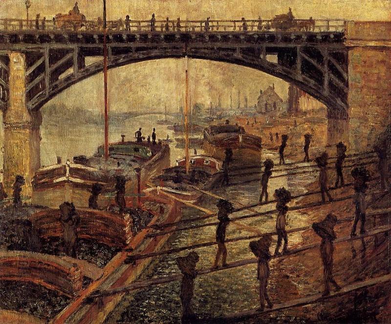 Coal Dockers. Claude Oscar Monet