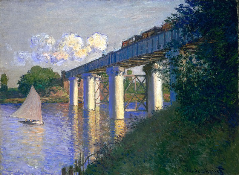 The Railway Bridge at Argenteuil. Claude Oscar Monet