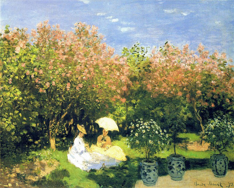The Garden. Claude Oscar Monet