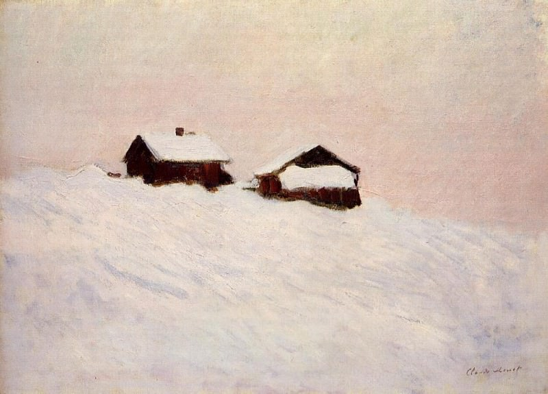 Houses in the Snow. Claude Oscar Monet