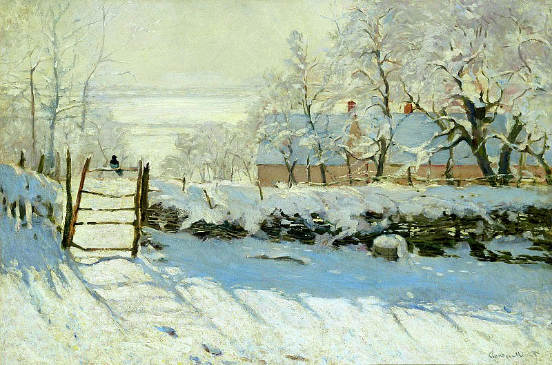 The Magpie. Claude Oscar Monet