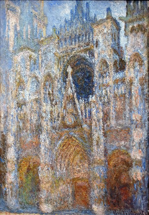 Rouen Cathedral, Magic in Blue. Claude Oscar Monet