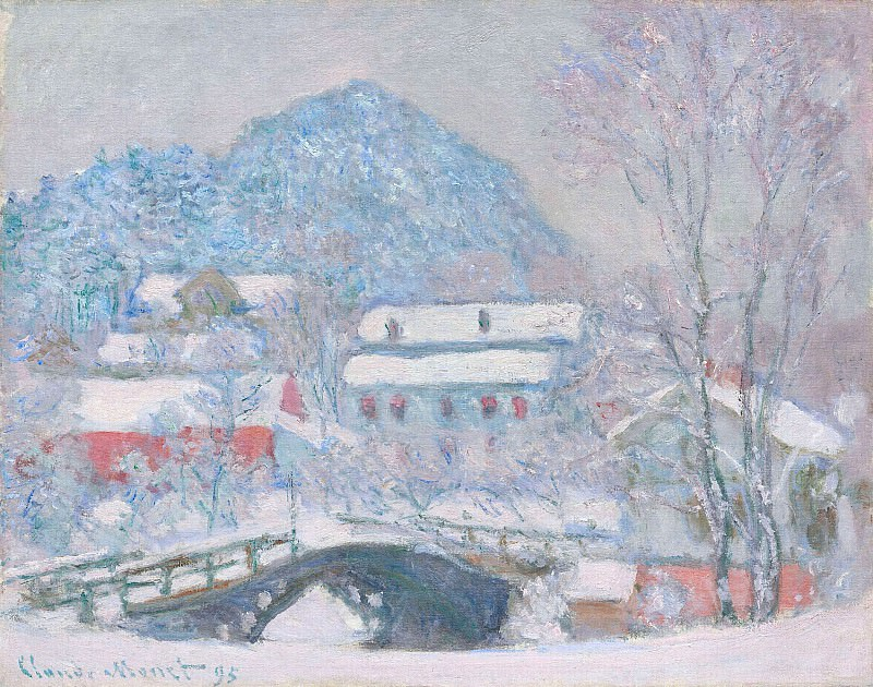 Norway, Sandviken Village in the Snow. Claude Oscar Monet
