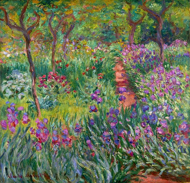 The Iris Garden at Giverny, 1899-1900. Claude Oscar Monet