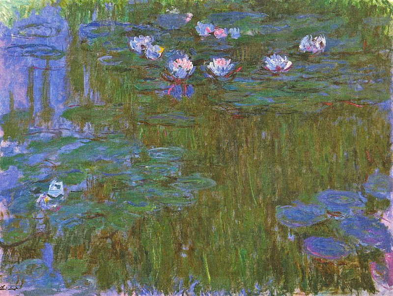 Water Lilies, 1914-17 06. Claude Oscar Monet