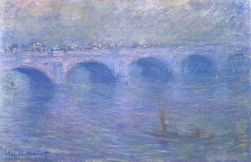 Waterloo Bridge in the Fog. Claude Oscar Monet