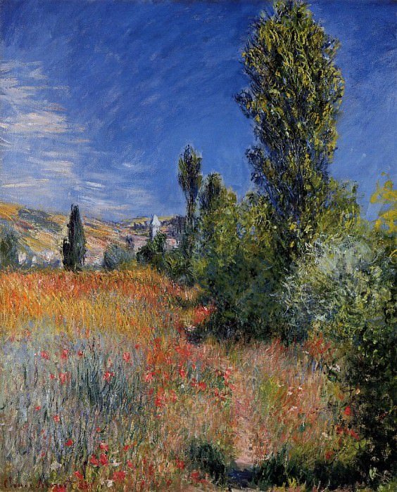 Landscape on the Ile Saint-Martin. Claude Oscar Monet