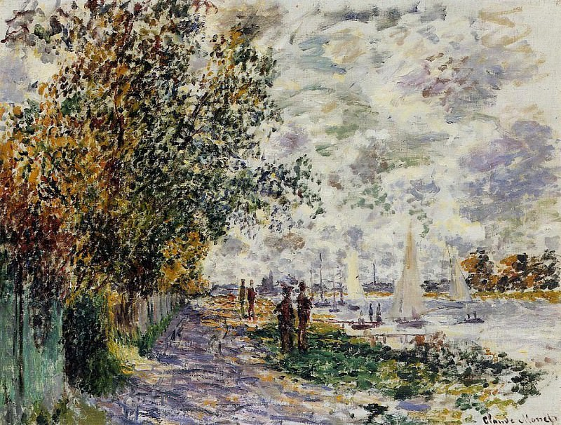 The Riverbank at Petit Gennevilliers. Claude Oscar Monet
