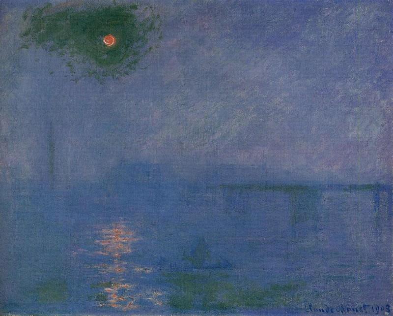 Charing Cross Bridge, Fog on the Themes. Claude Oscar Monet