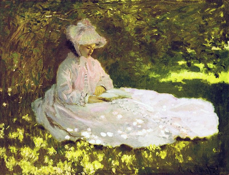 Woman Reading. Claude Oscar Monet