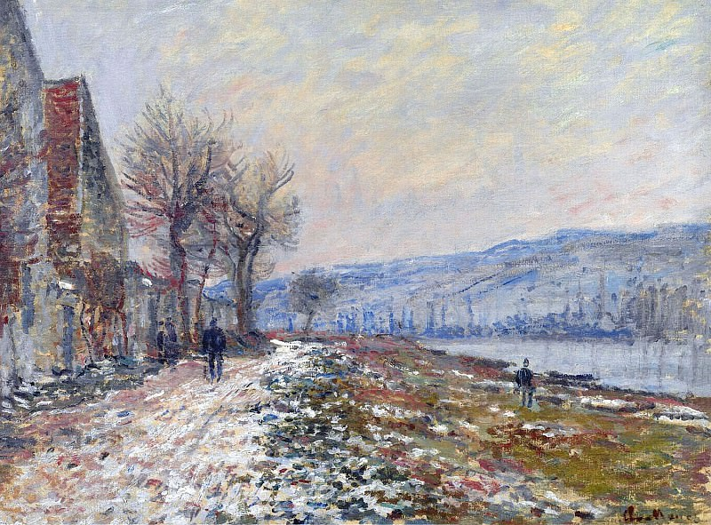 The Siene at Lavacourt, Effect of Snow. Claude Oscar Monet