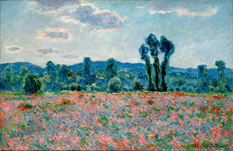 Poppy Field in Giverny 03. Claude Oscar Monet