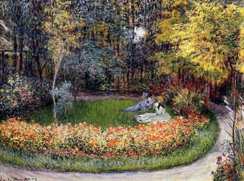 In the Garden. Claude Oscar Monet