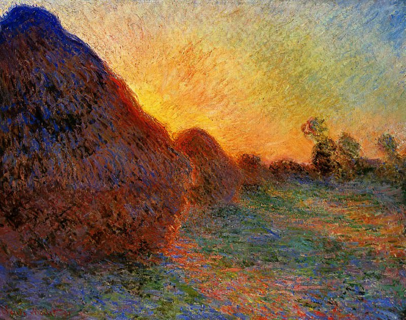 Grainstacks. Claude Oscar Monet