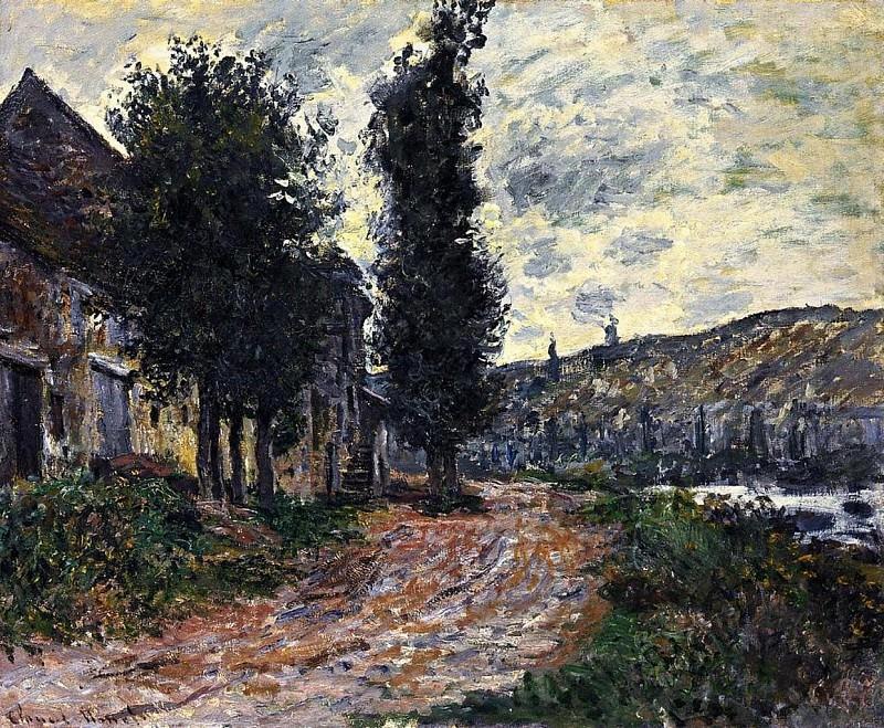 Tow Path at Lavacourt. Claude Oscar Monet