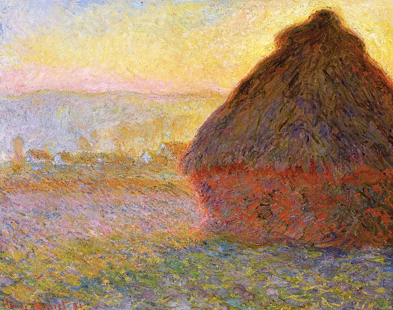 Grainstack at Sunset. Claude Oscar Monet