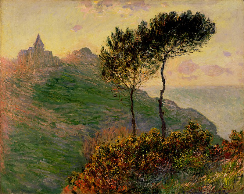 The Church at Varengeville, against the Sunset. Claude Oscar Monet