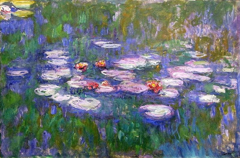 Water Lilies, 1916-19 03. Claude Oscar Monet