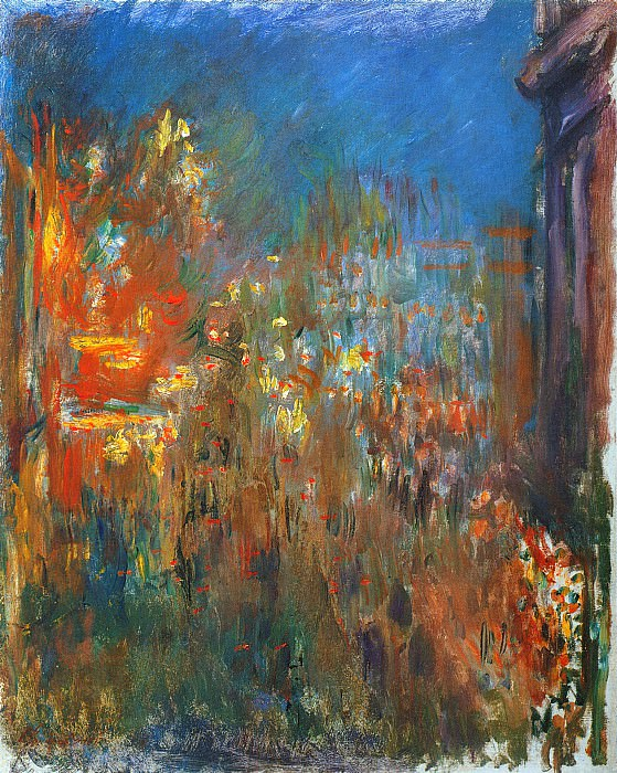 Leicester Square at Night. Claude Oscar Monet