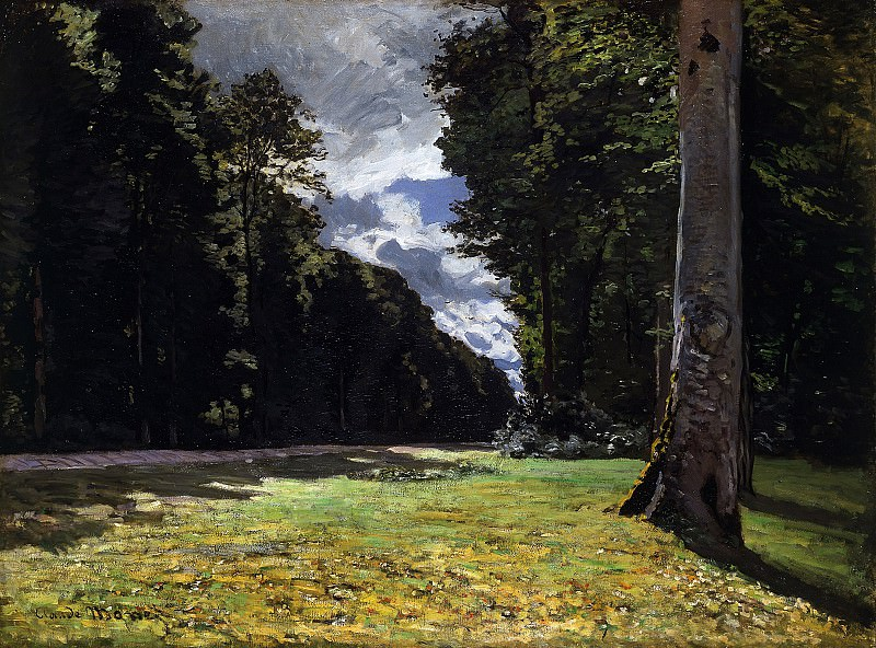 The Pave de Chailly in the Fontainbleau Forest. Claude Oscar Monet