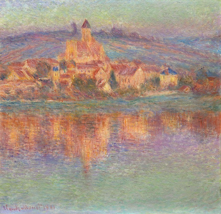 Vetheuil at Sunset. Claude Oscar Monet