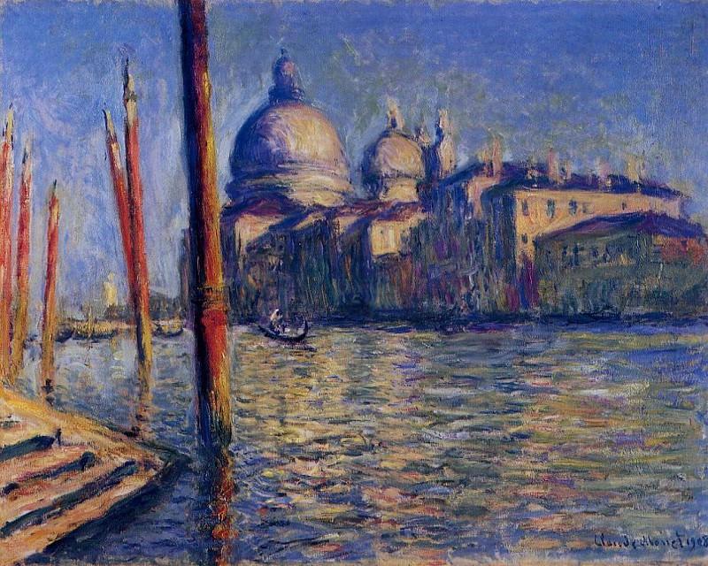 The Grand Canal and Santa Maria della Salute. Claude Oscar Monet