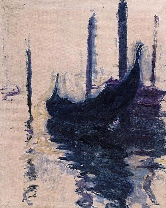 Gondola in Venice. Claude Oscar Monet