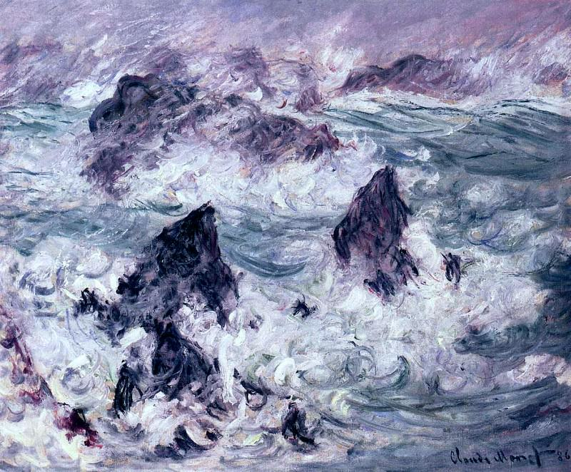Storm at Belle-Ile. Claude Oscar Monet