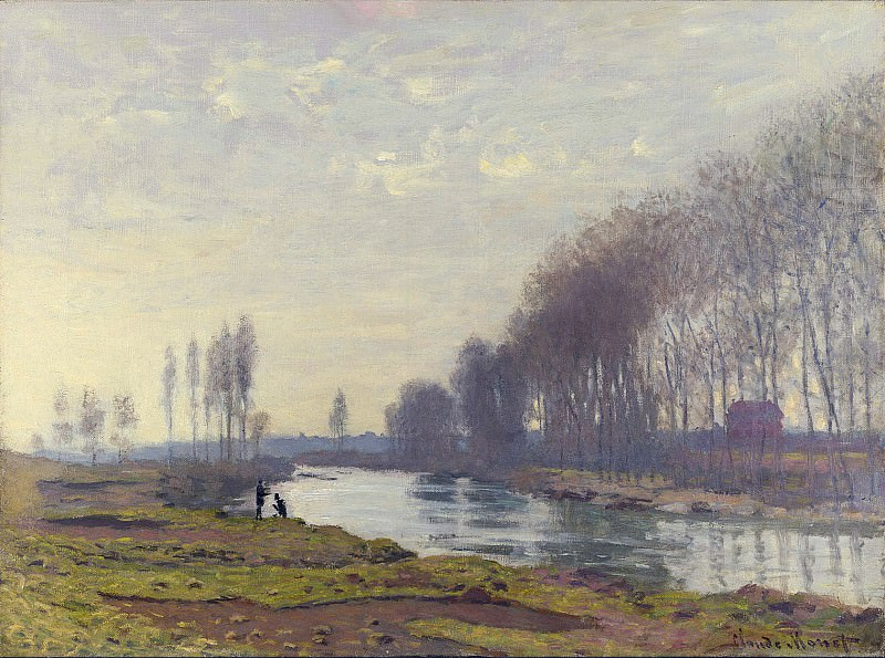 The Small Arm of the Seine at Argenteuil. Claude Oscar Monet