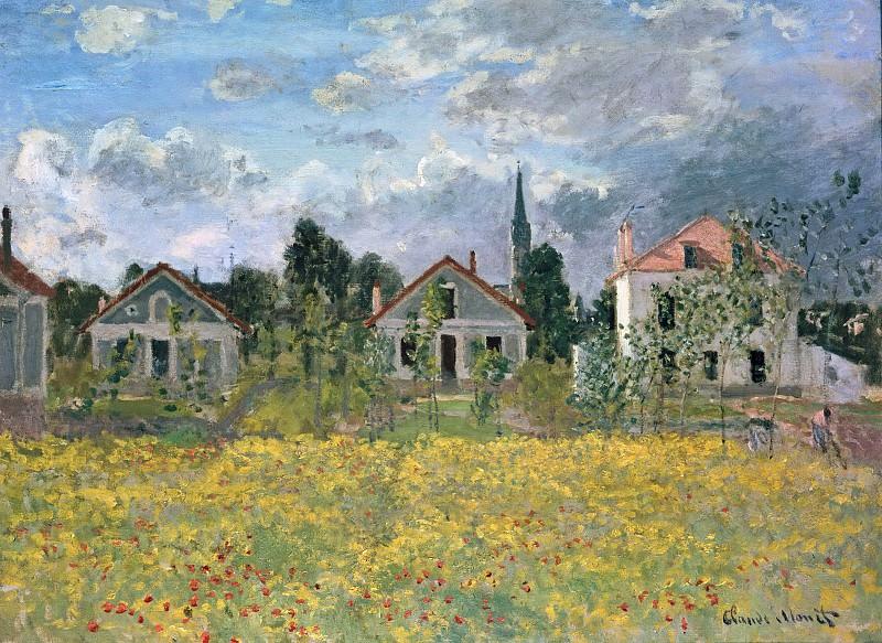 Houses in Argenteuil. Claude Oscar Monet