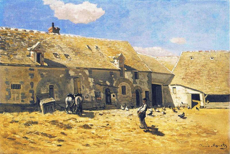 Cour de ferme a Chailly. Claude Oscar Monet