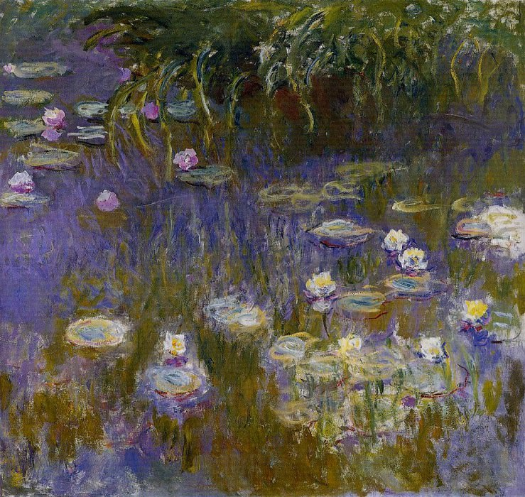 Water Lilies, Yellow and Lilac. Claude Oscar Monet