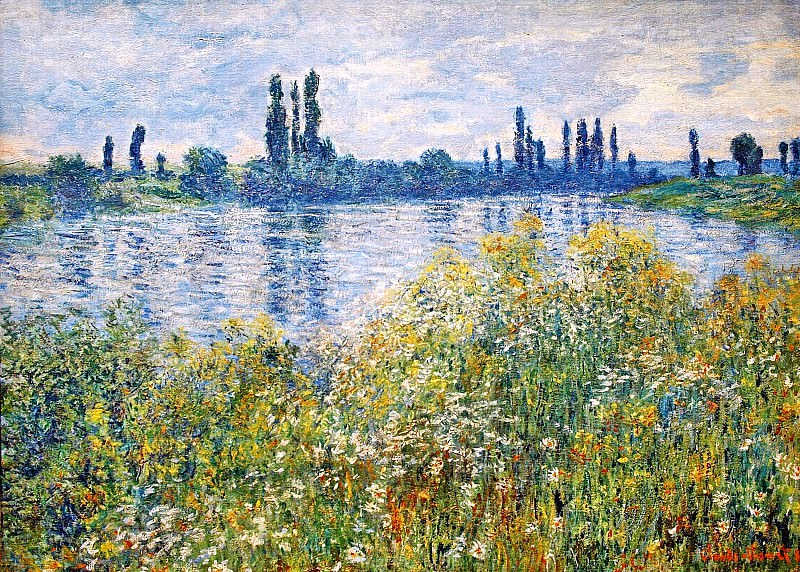 Flowers on the Banks of Seine near Vetheuil. Claude Oscar Monet